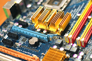 Close-up image of circuit board components