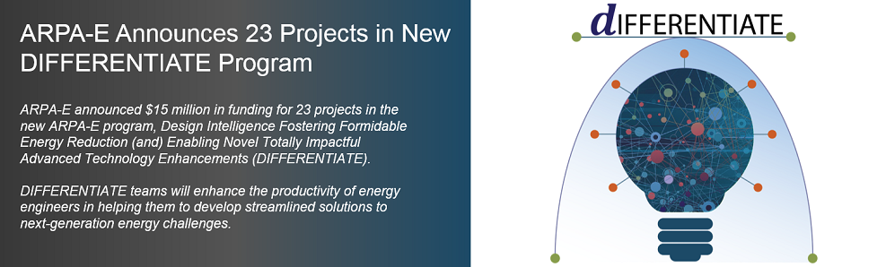ARPA-E Announces 23 Projects in New DIFFERENTIATE Program
