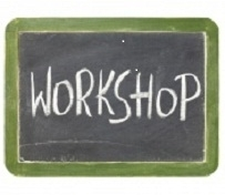 Graphic of a workshop sign