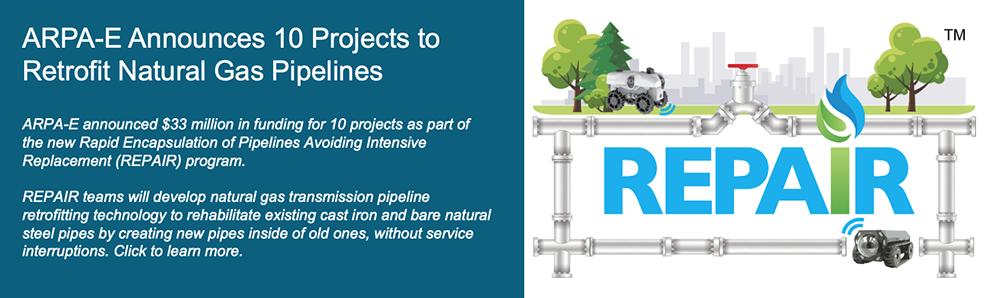 DOE Announces $33 Million for Natural Gas Pipeline Retrofits
