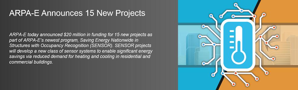 SENSOR Project Selections Nov 2017
